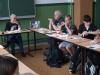 02 Zeitzeugentreffen mit Frühstück - Manfred Roseneit (l.) in der Schule am Rathaus, Berlin Lichtenberg